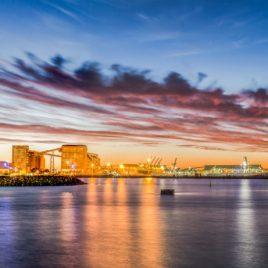 Port and City Lights
